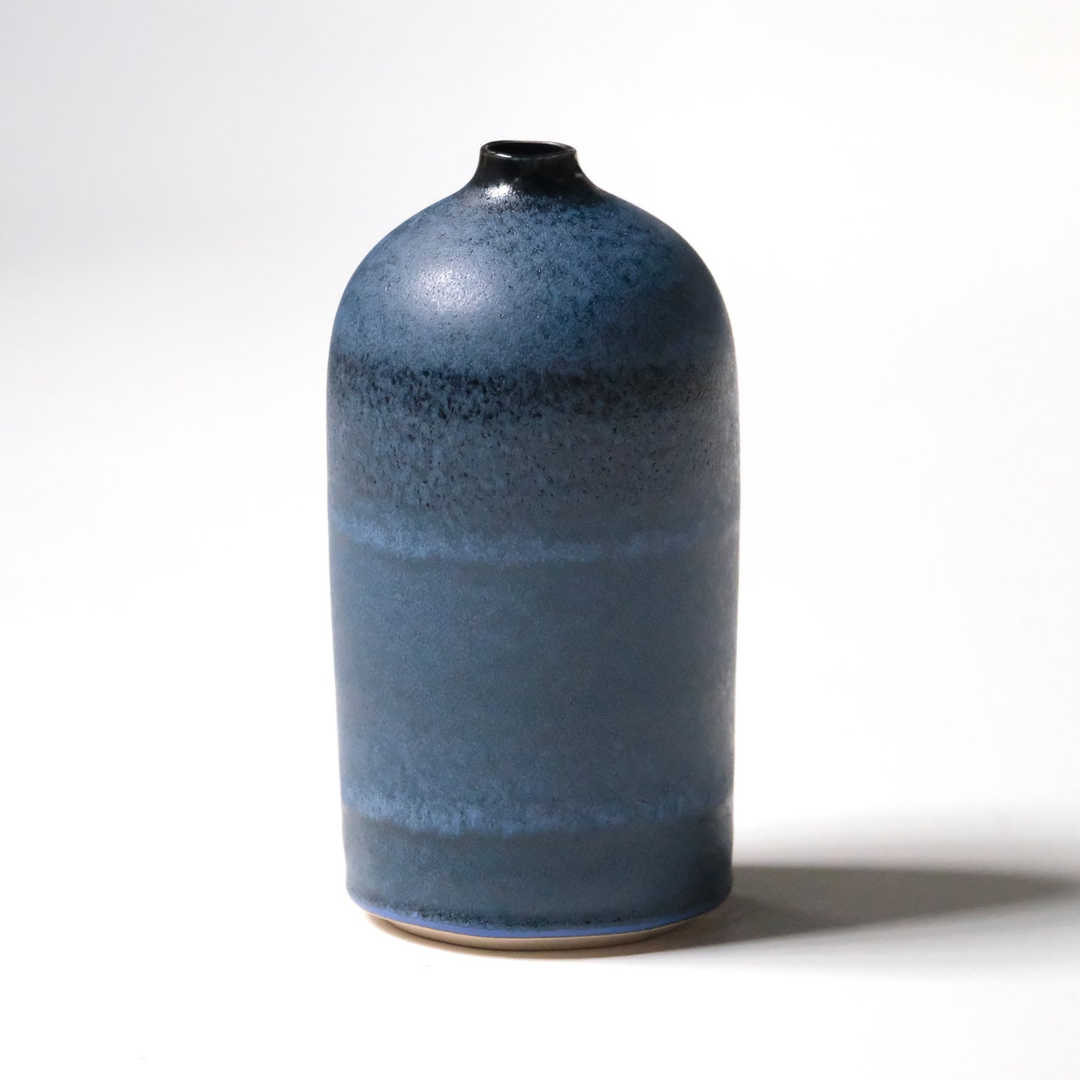 Image of UNIKA BOTTLE IN MIDNIGHT BLUE GLAZE