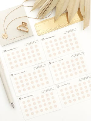 Image of Mini Neutral Dots Transparent Set