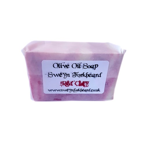 Image of Red Clay Olive Oil Soap - Anti Acne & Blackheads