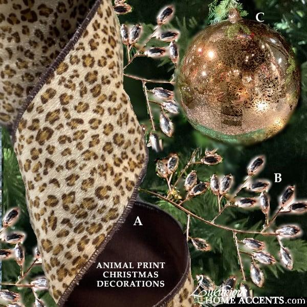 Image of Animal Print Christmas Decorations