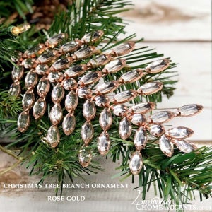 Image of Crystal Christmas Tree Branch Ornaments