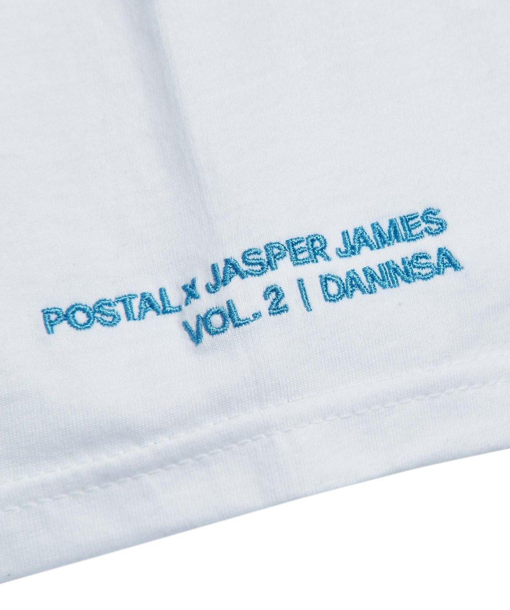 Postal x Jasper James Vol.2 'Dannsa' Blurred Lines White Tee