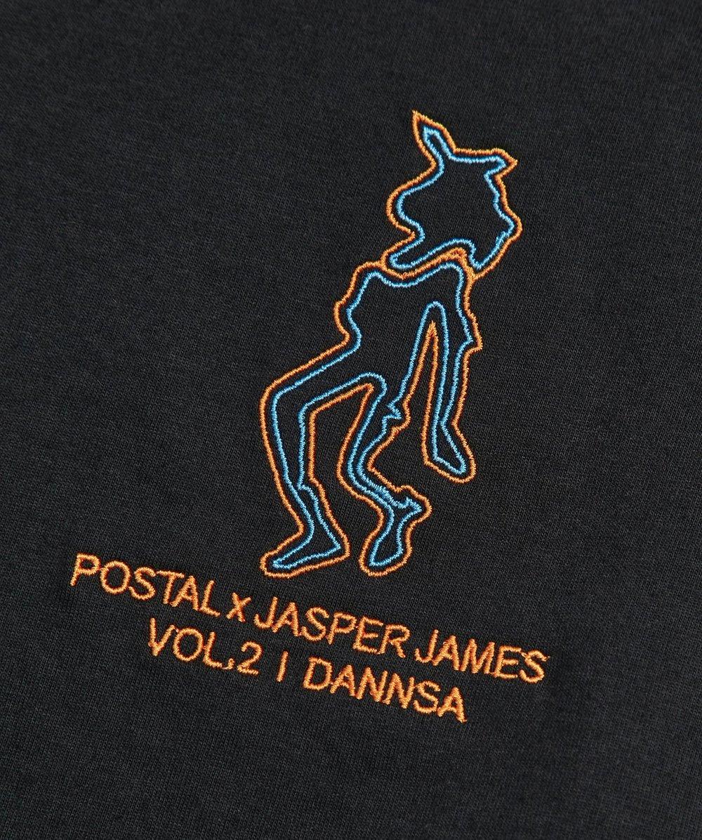 Postal x Jasper James Vol.2 'Dannsa' XTC Tee Back Print Black