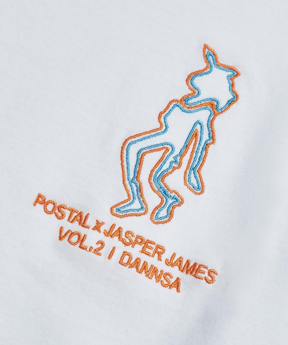 Postal x Jasper James Vol.2 'Dannsa' XTC Tee Back Print White