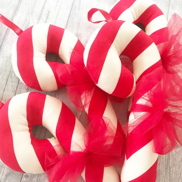 Image of Large Cotton Candy Canes