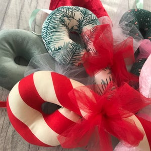 Image of Large Velvet Candy Canes