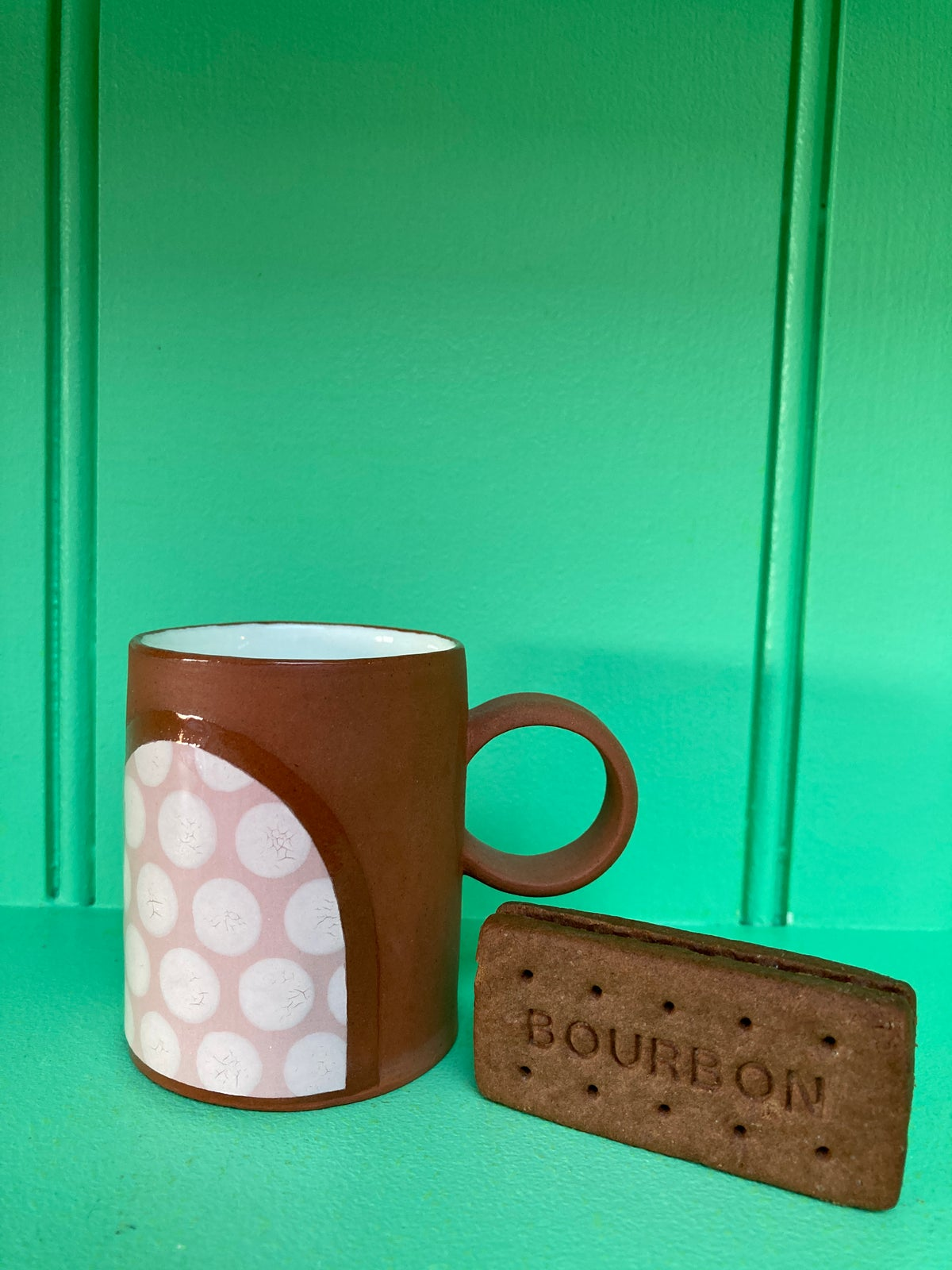Mr Jones Expresso Cup Pink/White Spots