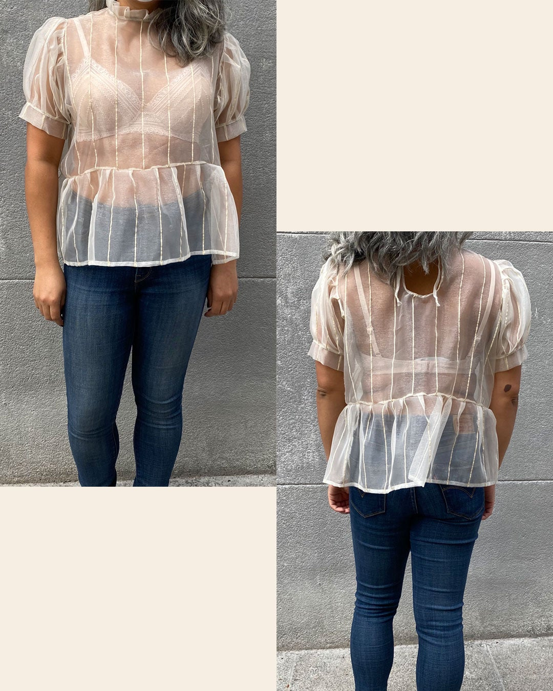 Image of Aila Top - Made to order (Sheer)