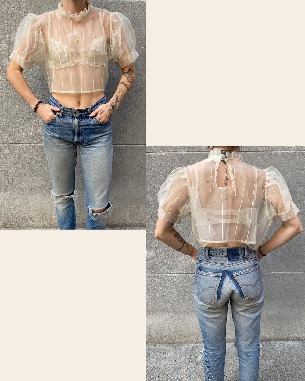 Image of Olga Top - Made to Order (Sheer)