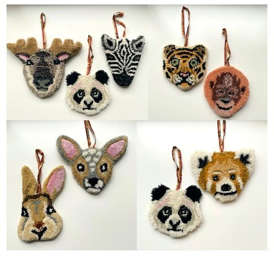 Image of Tête d'animal en laine //6 modèles au choix