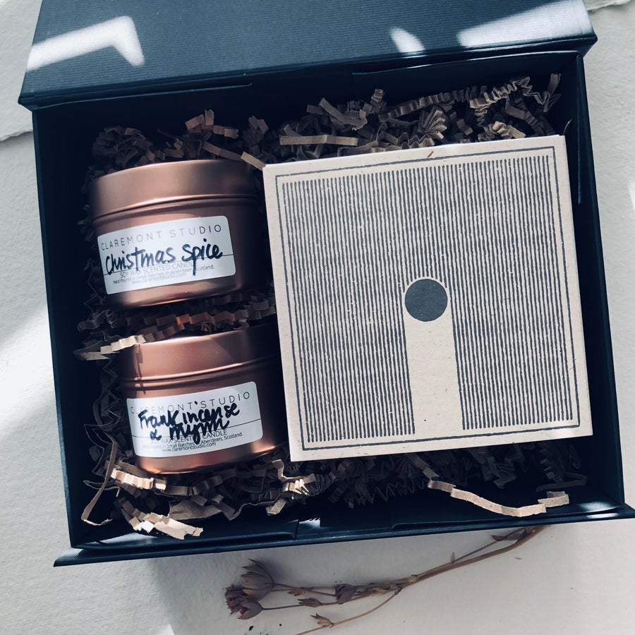 Image of Festive Candles & Letterpress Matches Gift Box