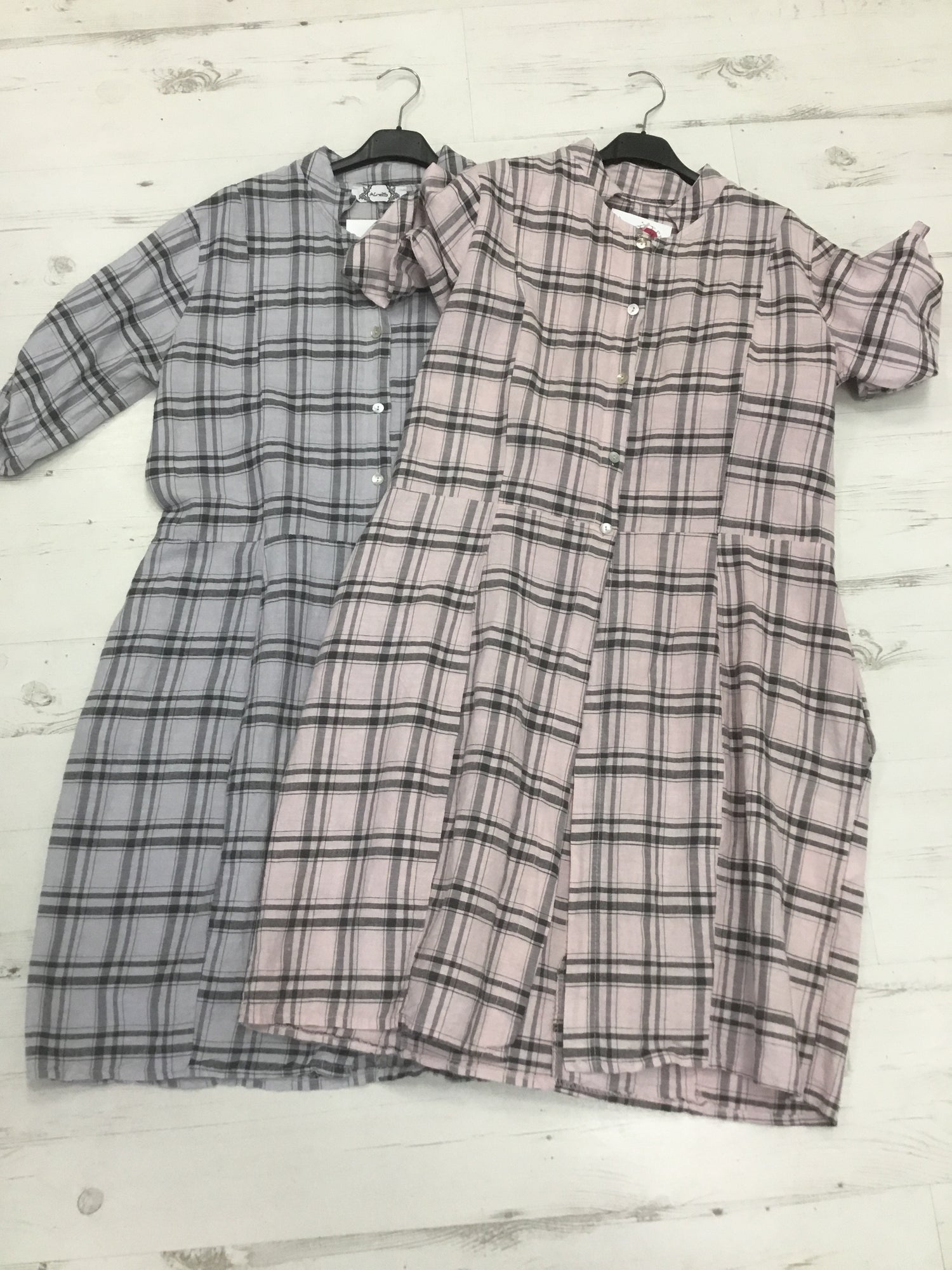 Image of CHECK COTTON OPEN SHIRT