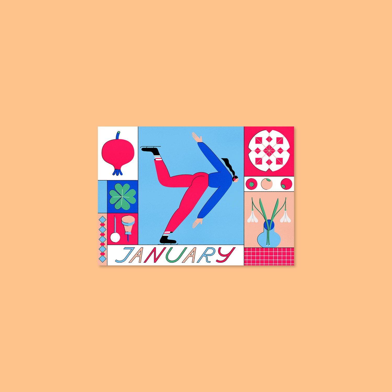 Image of January – Postcard – A6