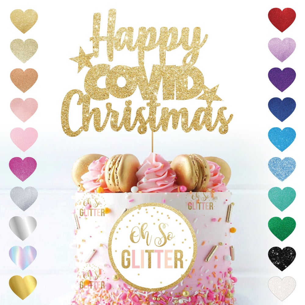Image of Happy Covid Christmas Cake Topper