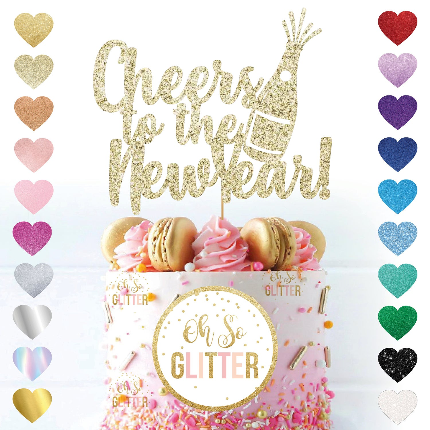 Image of Cheers to The New Year Cake Topper