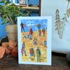 Beach people greetings cards