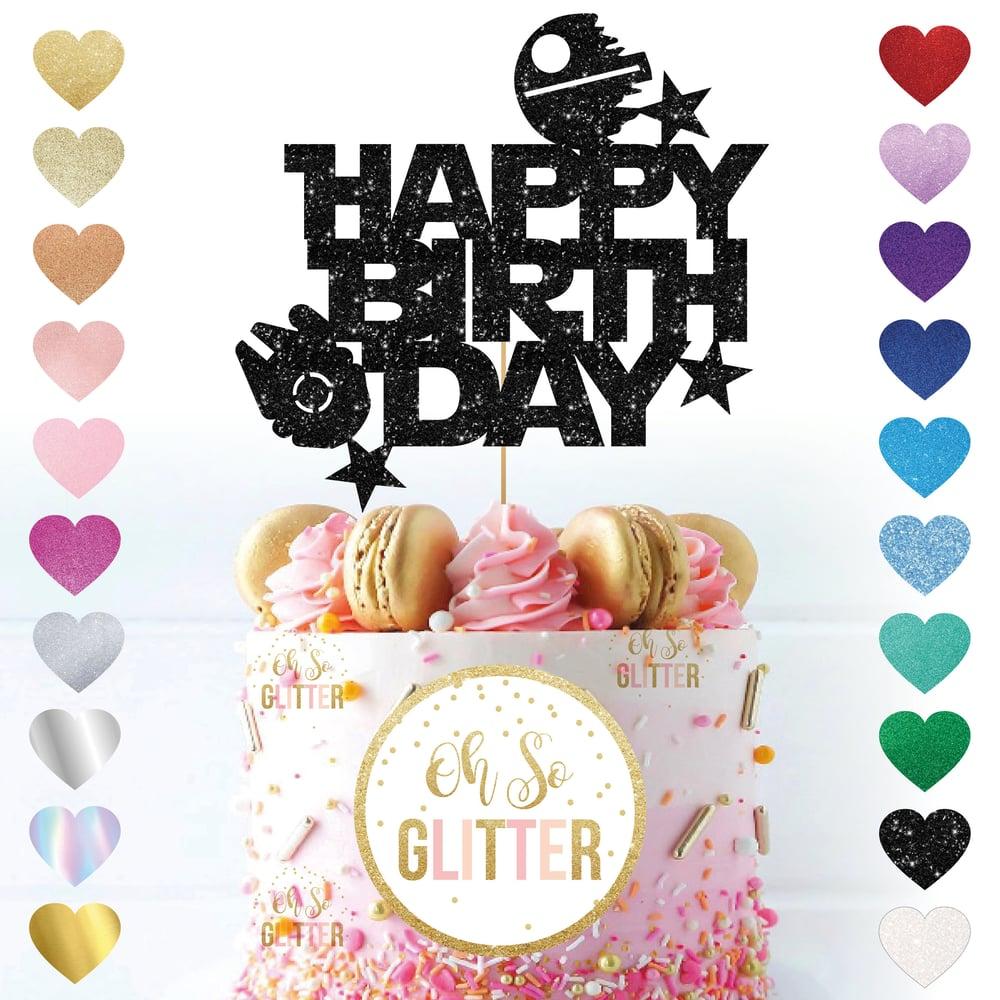 Image of Happy Birthday - Star Wars Theme Cake Topper