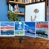 Wave project stencil greetings cards