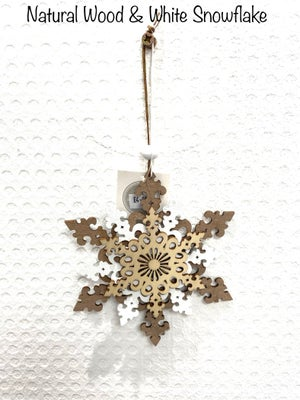 Image of Christmas Wooden 2D & 4D Snowflakes