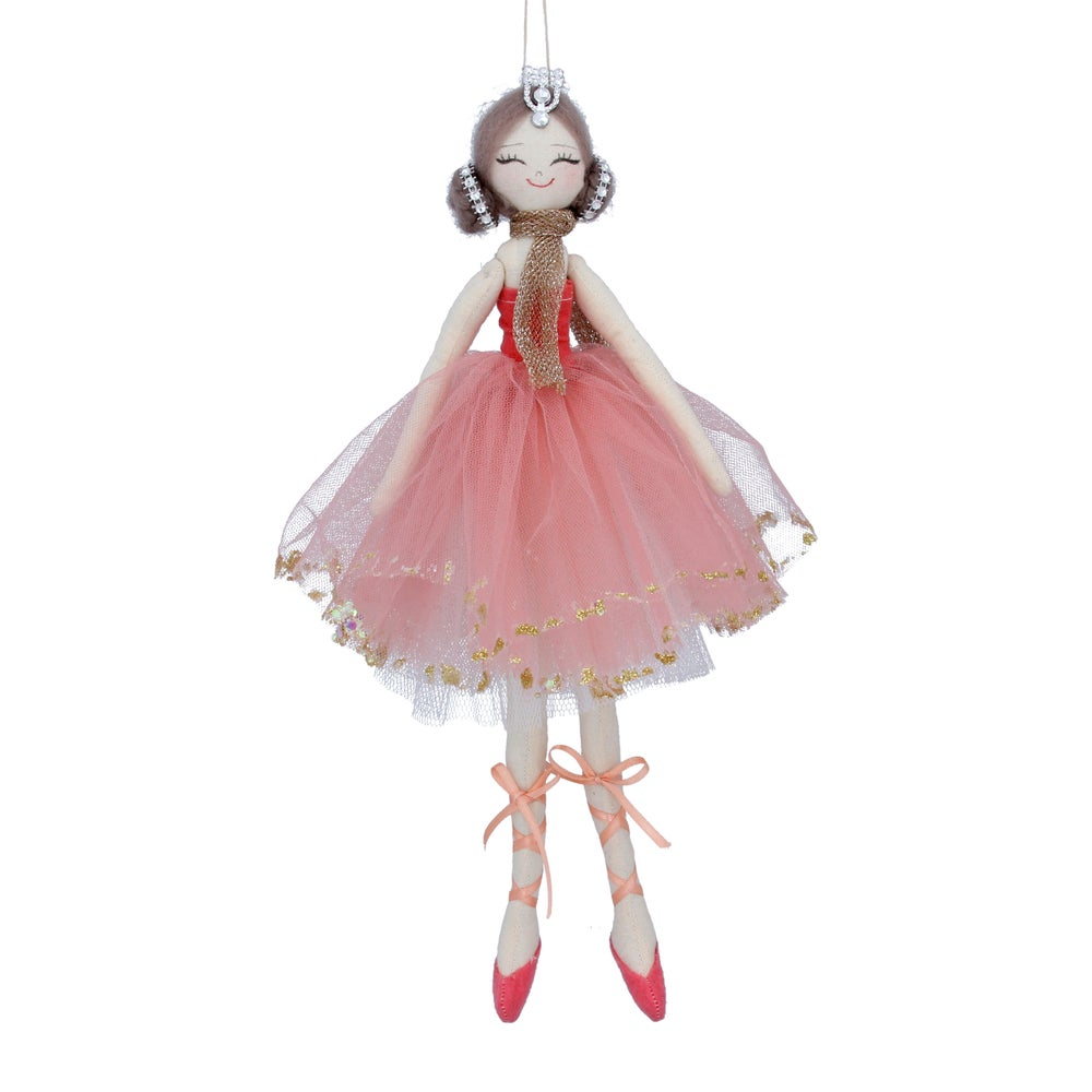 Image of Gisela Graham Pink Fabric Ballerina Decoration