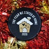 """""""The year we stayed at home"""" Gingerbread House Christmas patch"""