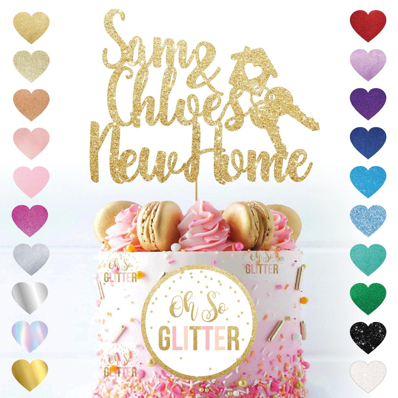 Image of Custom Name New Home Cake Topper