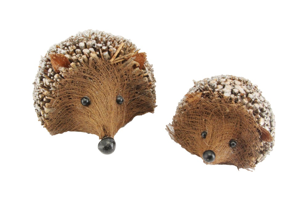 Image of Gisela Graham Twig Hedgehog Glitter Ornament