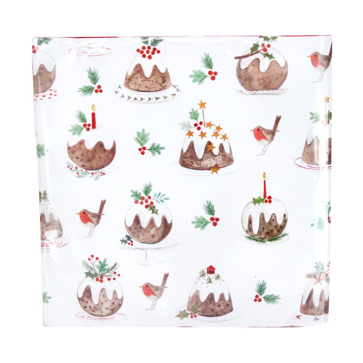 Image of Gisela Graham Plum Pudding Paper Napkins
