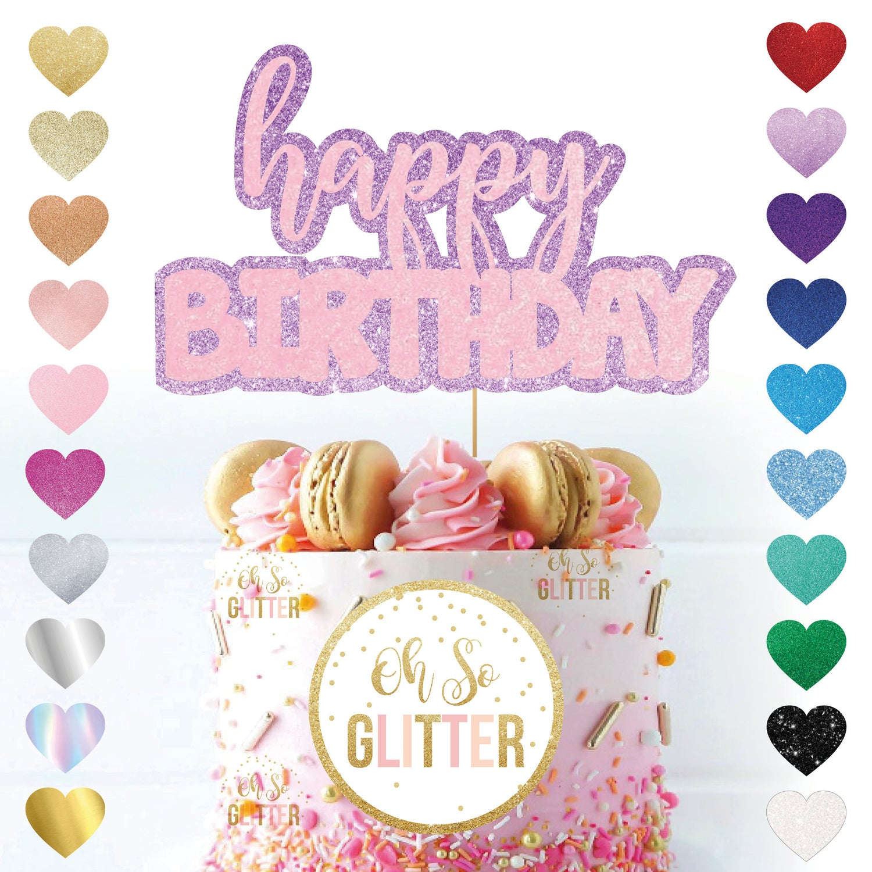 Image of Custom Happy Birthday Cake Topper