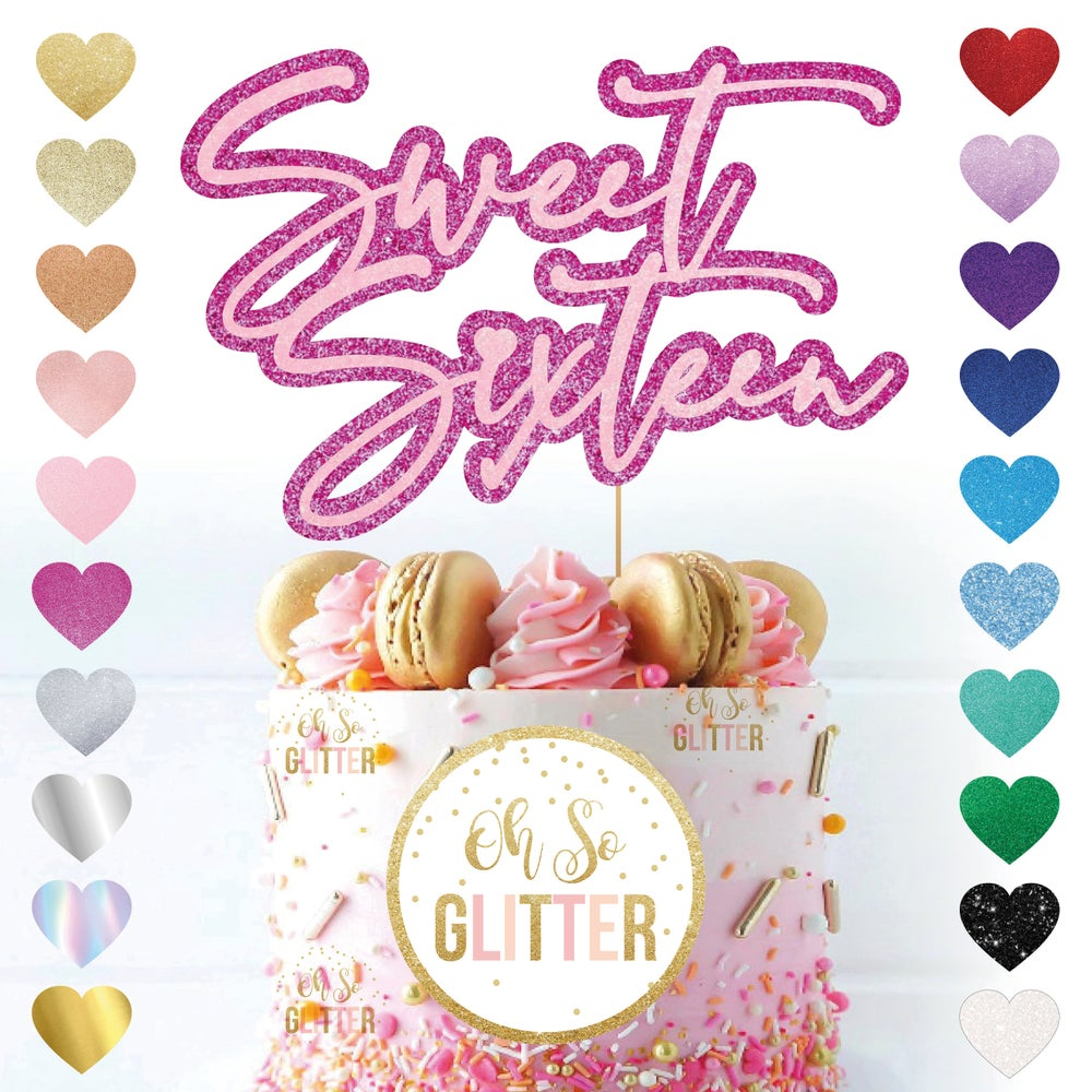 Image of Sweet Sixteen Cake Topper