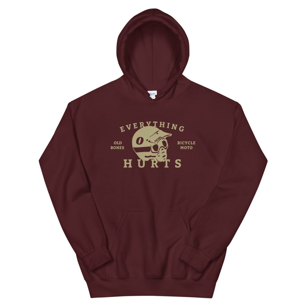 Image of OLD BONES BADGE LOGO HOODIE