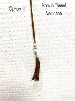 Image of Black & Brown Tassel Necklaces
