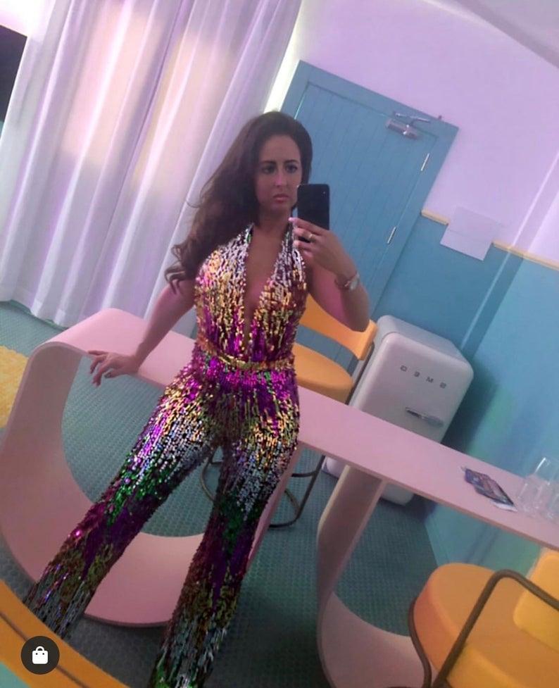 Image of Vegas Barbie Sequin Jumpsuit