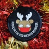 Rudolph the red masked reindeer Christmas patch