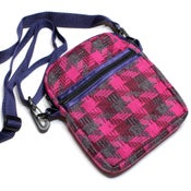 Image of Vintage pink check handmade bag