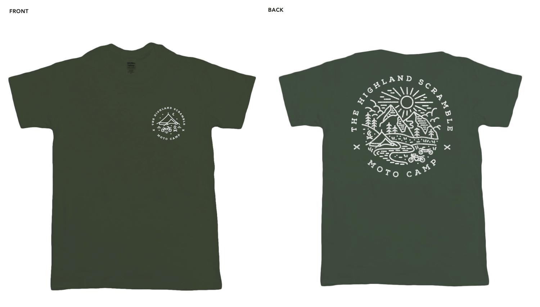 T-Shirt - Moto Camp Army Green