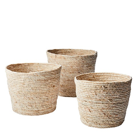 Image of MAIZE LEAF BASKETS - THREE SIZES