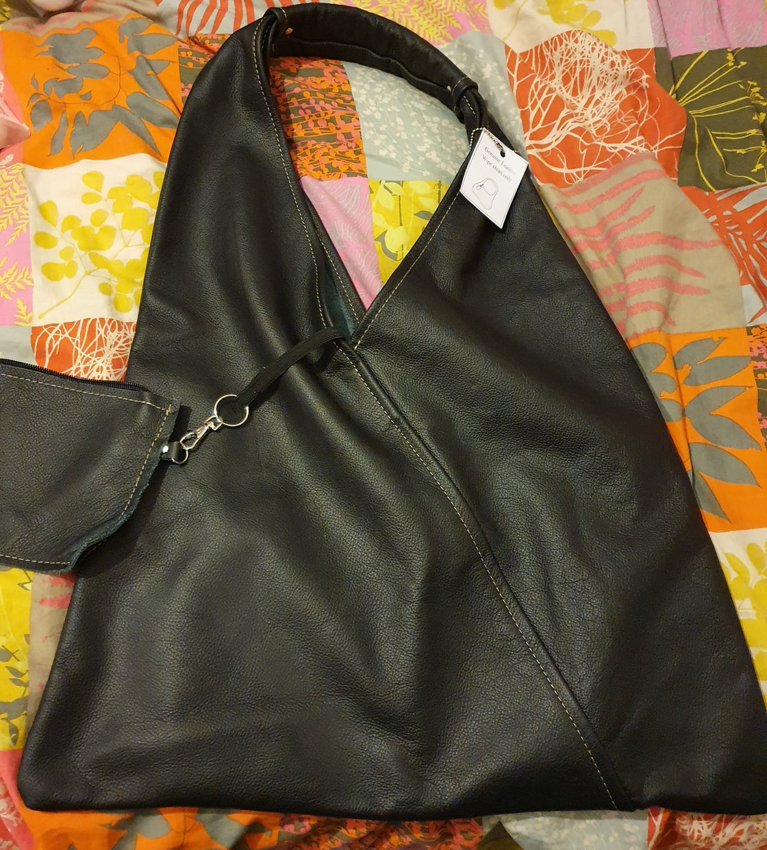Image of Kaluha butter soft leather slouch BLACK