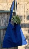 Blue Simple Shoulder Bag