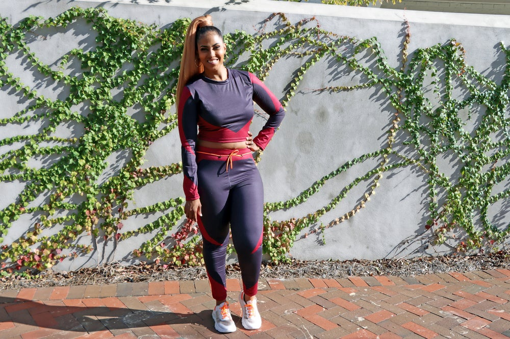 Patchwork Casual Set RED & NAVY