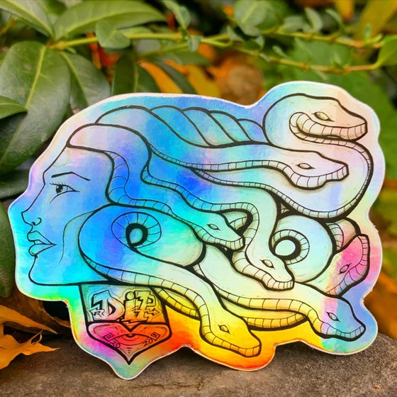 Image of Medusa Vibration 2020 holographic sticker