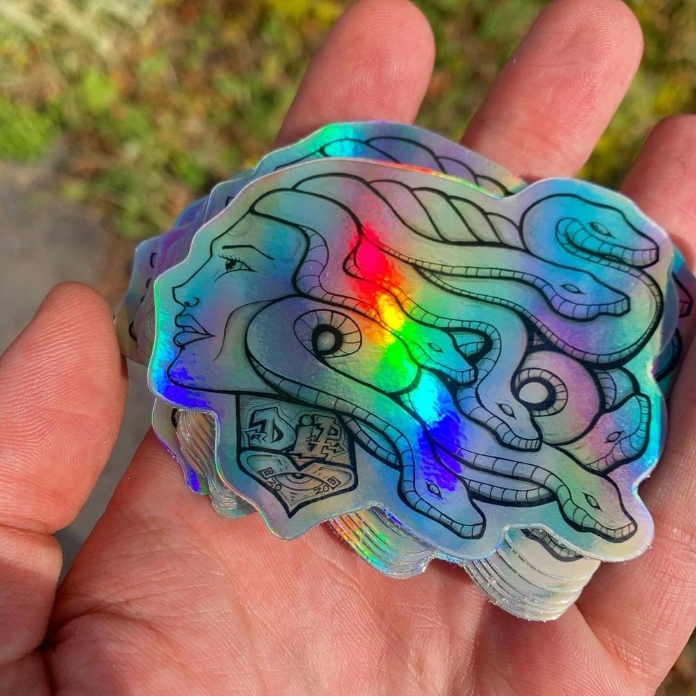 Image of Medusa Vibration 2020 holographic sticker