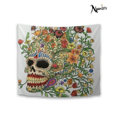 Image of Skulls and roses tapestry