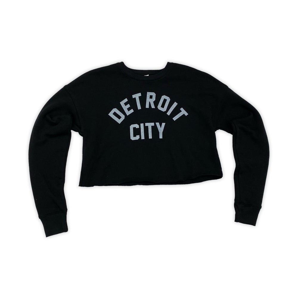 Image of Detroit City Black Crop Top