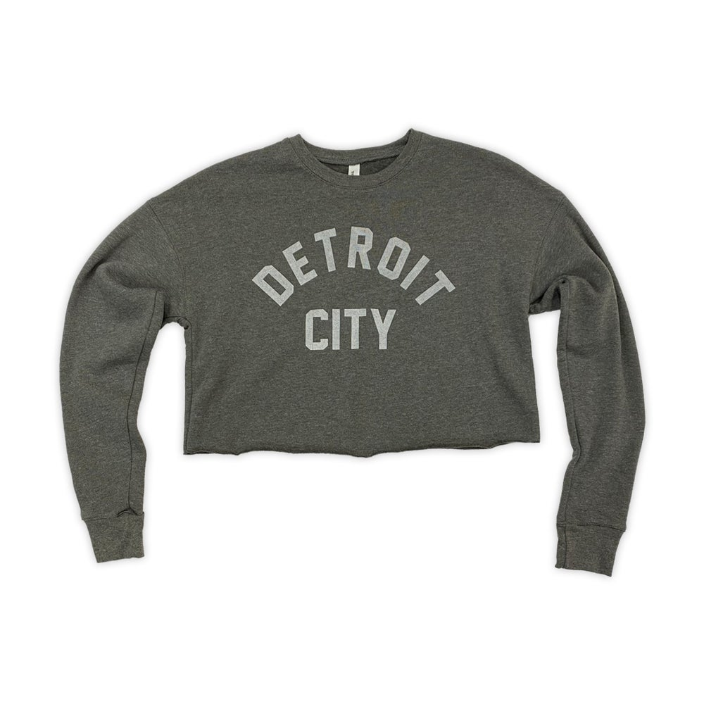 Image of Detroit City Grey Crop Top