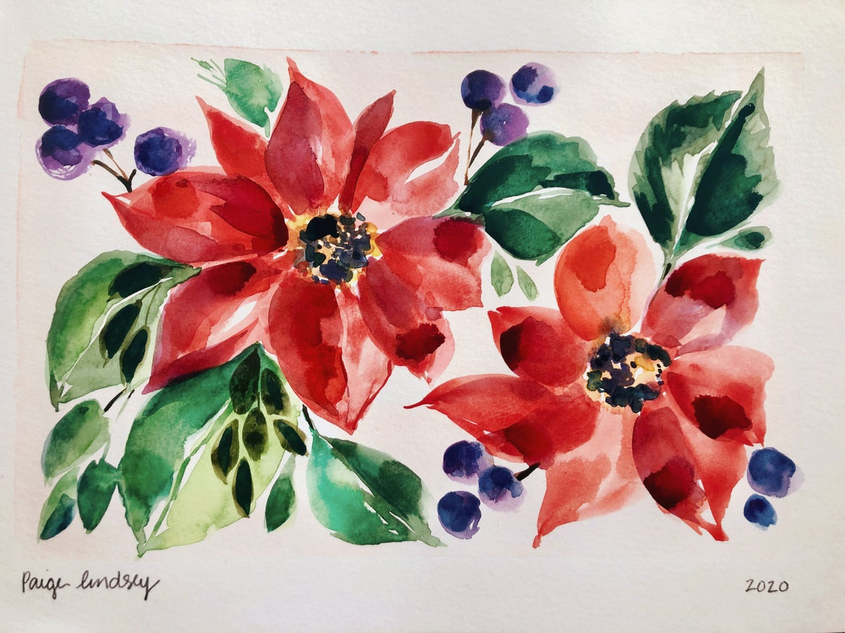 Image of Learn How to Paint Poinsettias