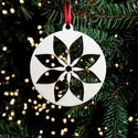 Wooden Christmas Decorations - Poinsettia