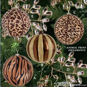 Image of Animal Print Christmas Ornaments