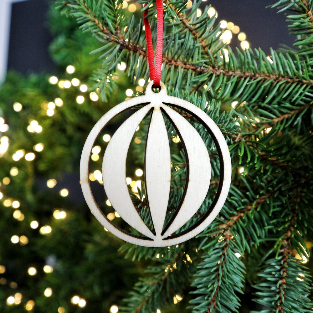 Image of Wooden Christmas Decorations - Bauble