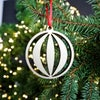 Wooden Christmas Decorations - Bauble